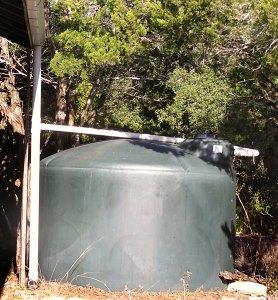 connecting rain water tank
